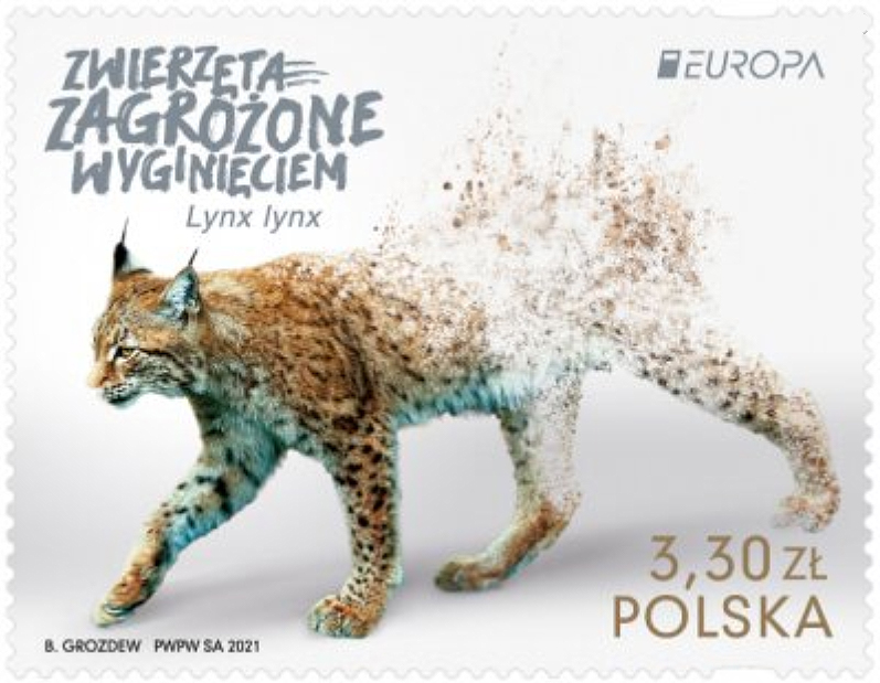 Europamarke Polens - der verschwindende Luchs