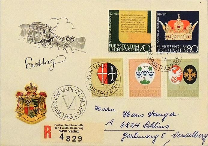 Ersttagsbrief-1971-Liechtenstein