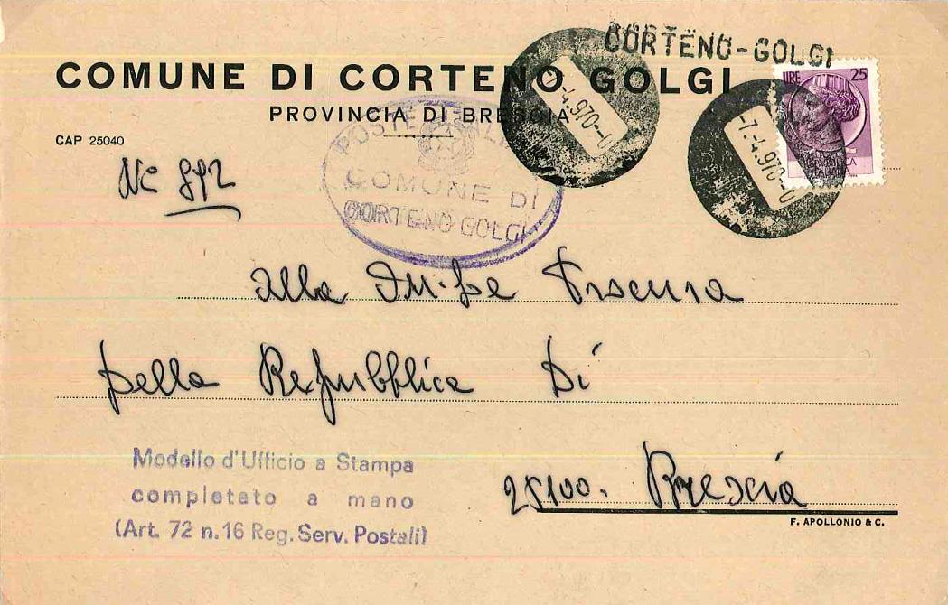 Beleg des Monats Mai 2019 - 2: Brief mit stummen Stempeln