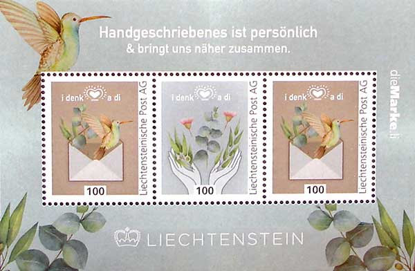 LIECHTENSTEIN_2020_STAMPS_MINIATURE_SHEET_PERSONAL_Handwriting_is_Personal
