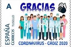 SPAIN_2020_STAMP_PERSONALISED_GRACIAS_Coronavirus_CADIZ_2020