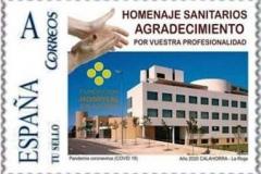 SPAIN_2020_STAMP_PERSONALISED_Hommage_Sanitarians_Coronavirus_COVID-19