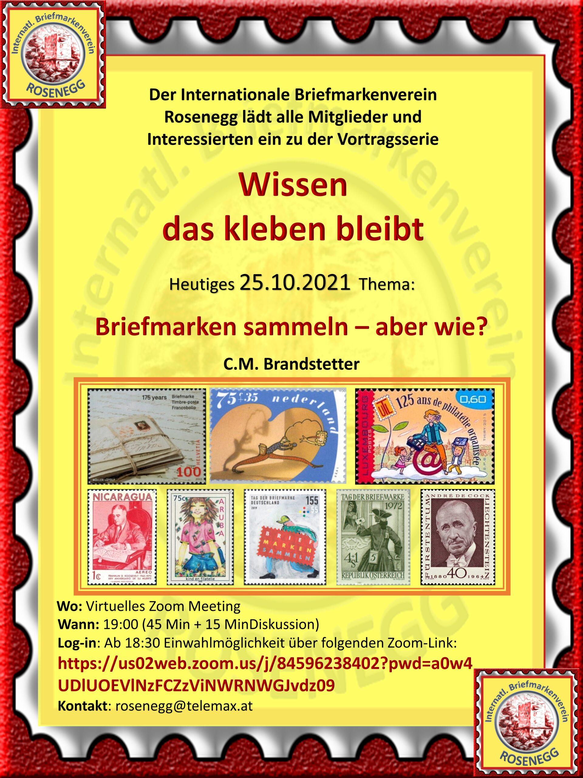 Vortrag Briefmarkensammeln