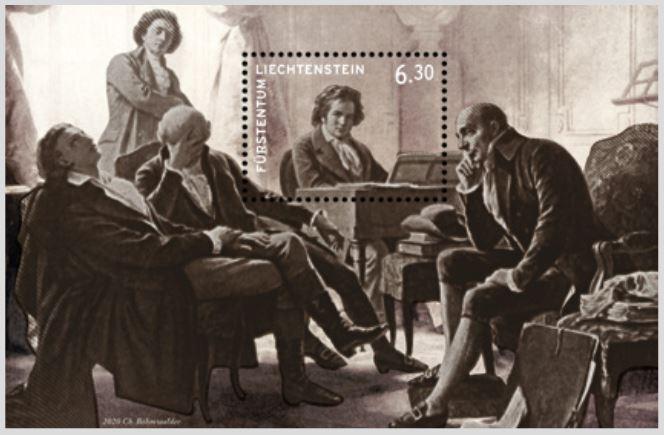 Beethoven in mitten seiner Freunde