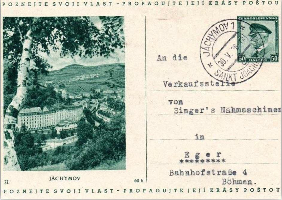 Joachimsthal mit Uranfarbenfabrik