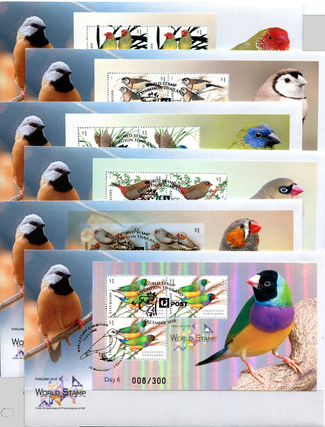 minisheets of australian finches - cancelled