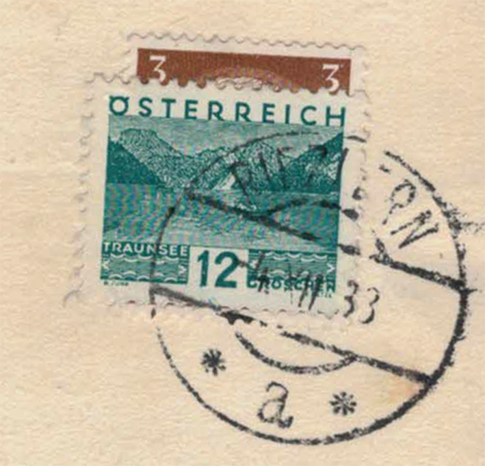 Riezlern - Stempel 1933