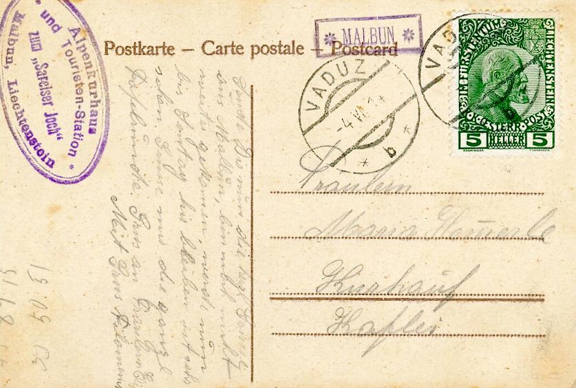 erste Briefmarke Liechtensteins