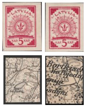 stamps on military maps