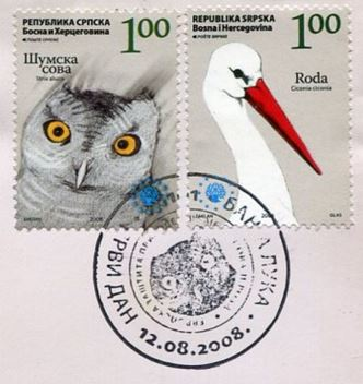 Stempel Storch Eule