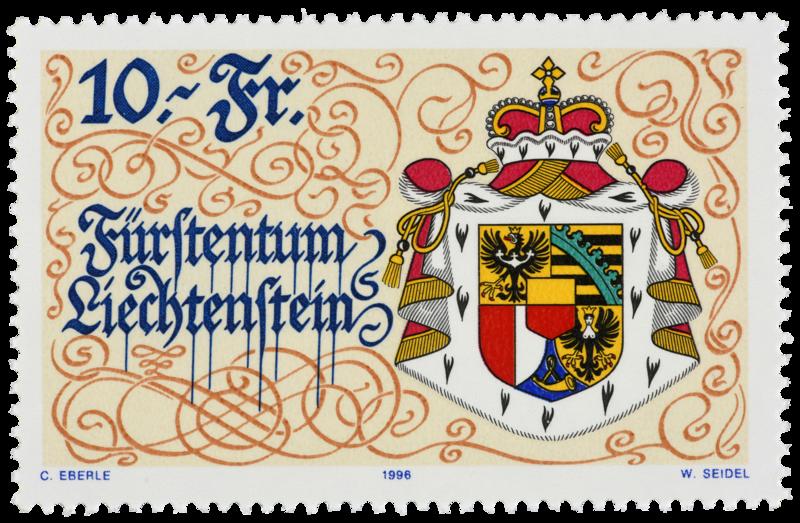 großes Staatswappen Liechtenstein