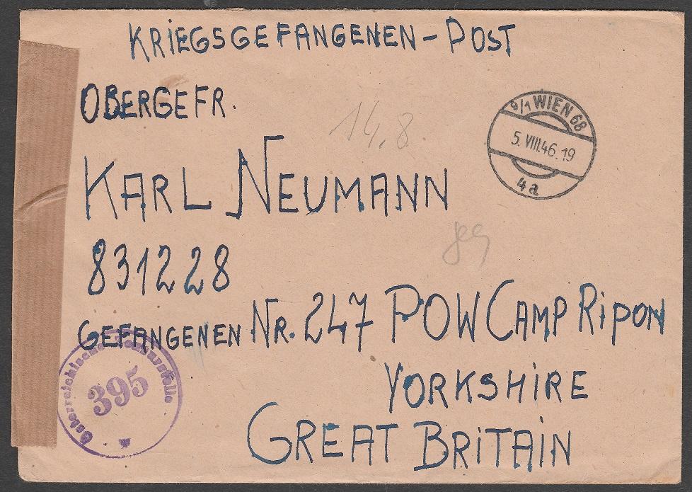 Brief an Kriegsgefangenen