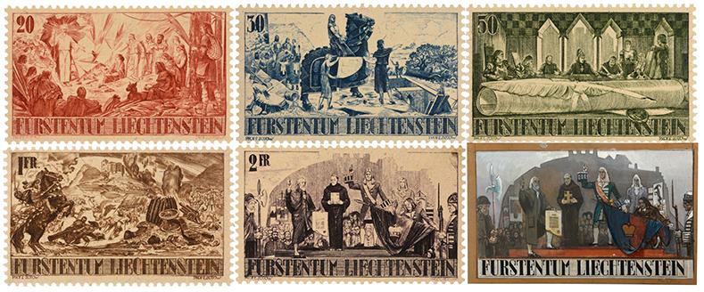 Liechtenstein Briefmarken Zotow