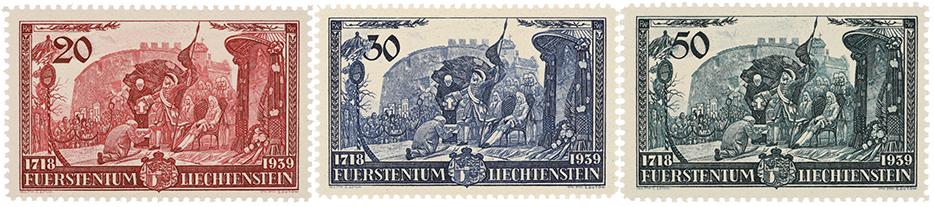 Liechtenstein Huldigung des Fürsten